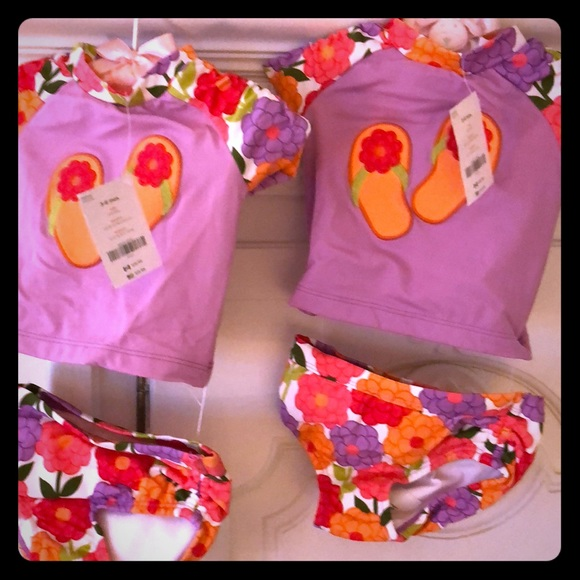 f2f098a1c78518 Baby Girls Matching bathing suits. NWT. Gymboree